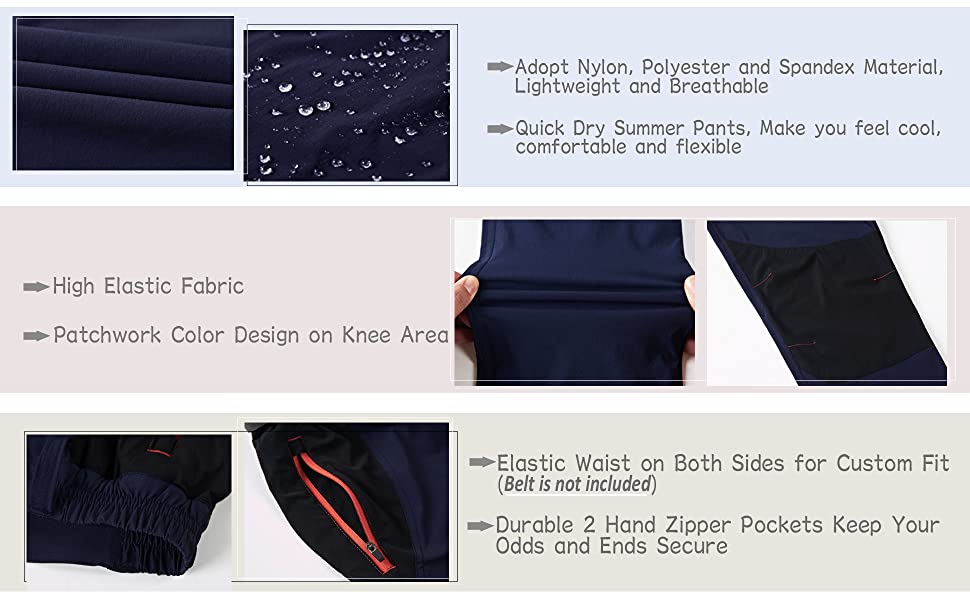 summer pants for men quick dry pants for men