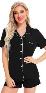 Women Short Sleeve Pajamas Set