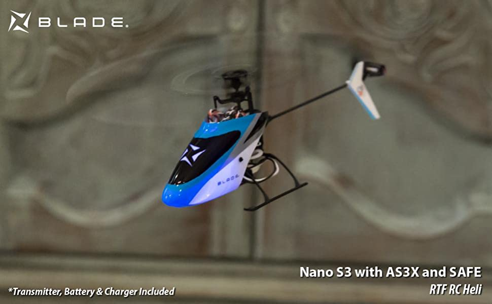 BLH01300 with AS3X and Safe Blade Nano RC Helicopter S3 RTF Comes Right Out of The Box