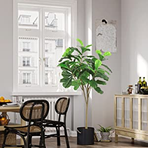 fiddle leaf fig tree tall fake trees 5ft artificial tree for home office decor indoor tall