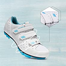 adjustable hook-and-loop mtb cycling shoes for women