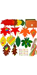 50 Sets fall leaf cutouts cards with envelopes and stickers craft kit