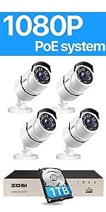8EN-2612W4S-10 POE security cameras system