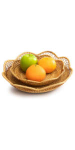fruit bowls gold serving tray seagrass baskets candy dishes decorative wall decor for kitchen