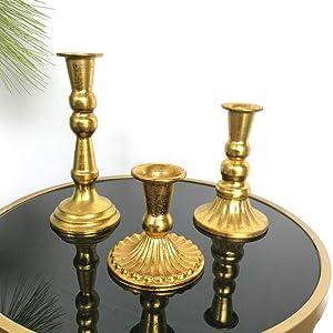 retro candlestick holders