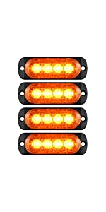 DOT complaint aluminum alloy housing surface mount amber LED top clearance side marker lights