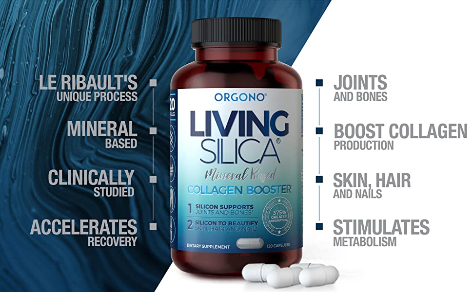 Living Silica Mineral Based Collagen Booster capsules 120cc Benefits