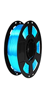 silk acid blue pla filament