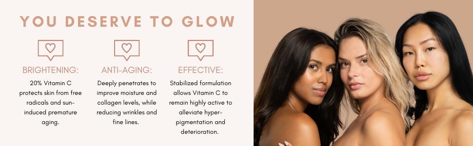 vitamin c glow serum brightening anti aging effective