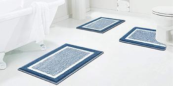 Bathroom Rug Bath Mat Soft Microfiber Plush Shower Mat Carpets
