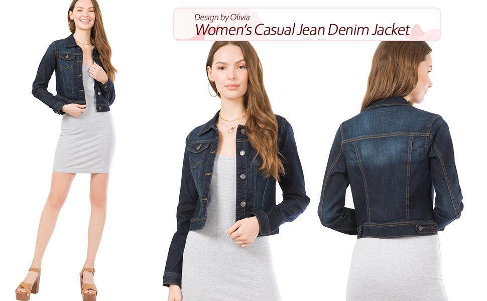 Women's Casual Jean Denim Jacket