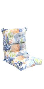 LVTXIII Outdoor Seat/Back Chair Cushion Patio Tufted High Back Cushion, Seasonal Replacement Cushion