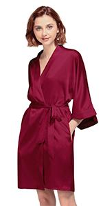 Women's Satin Kimono Bathrobe