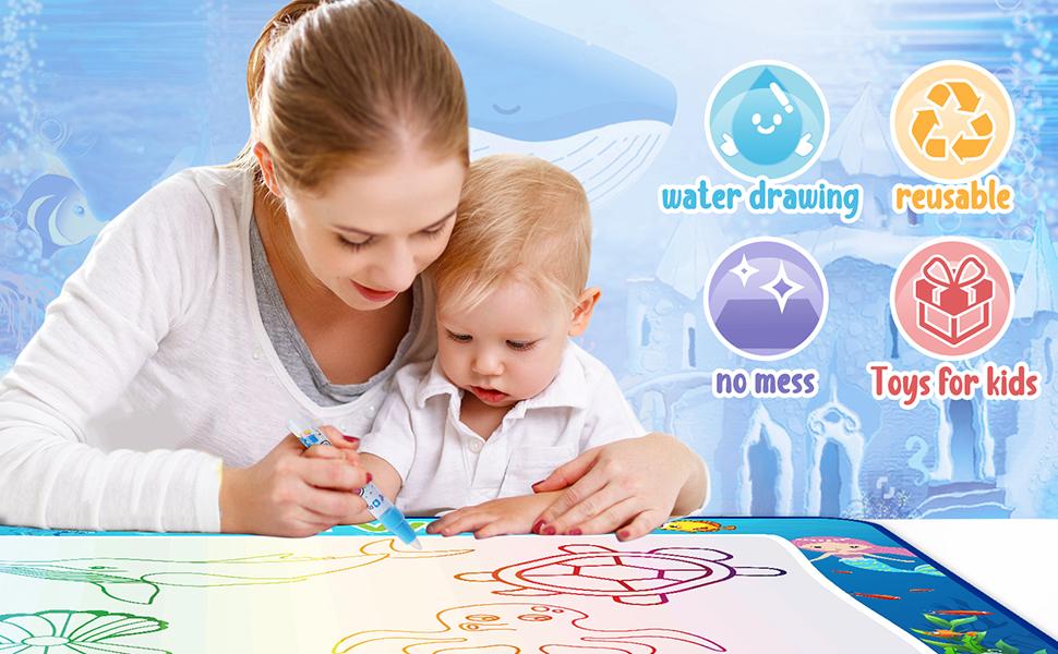 CHEERFUN water doodle mat glows in the dark