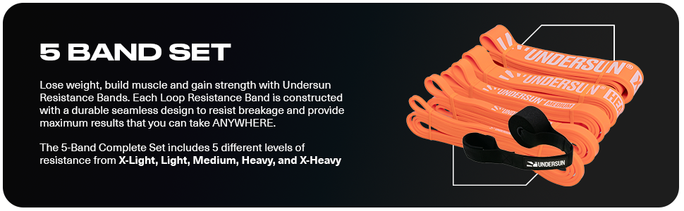 The 5-Band Complete Exercise Band Set