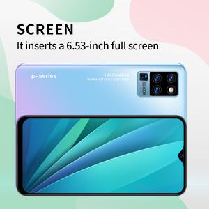It has a 6.53 inch screen