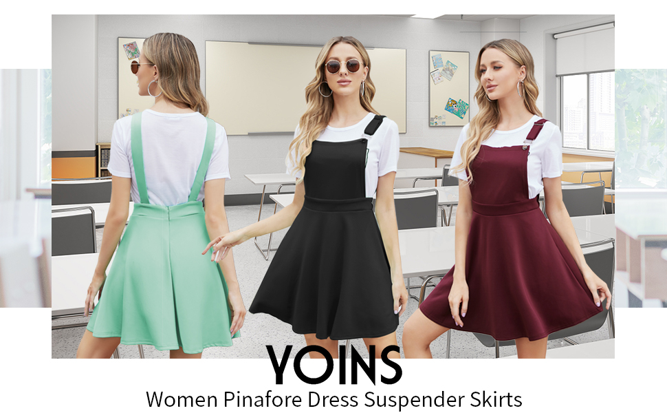 back to school suspender skirts