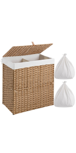 laundry hamper 2 section with lid