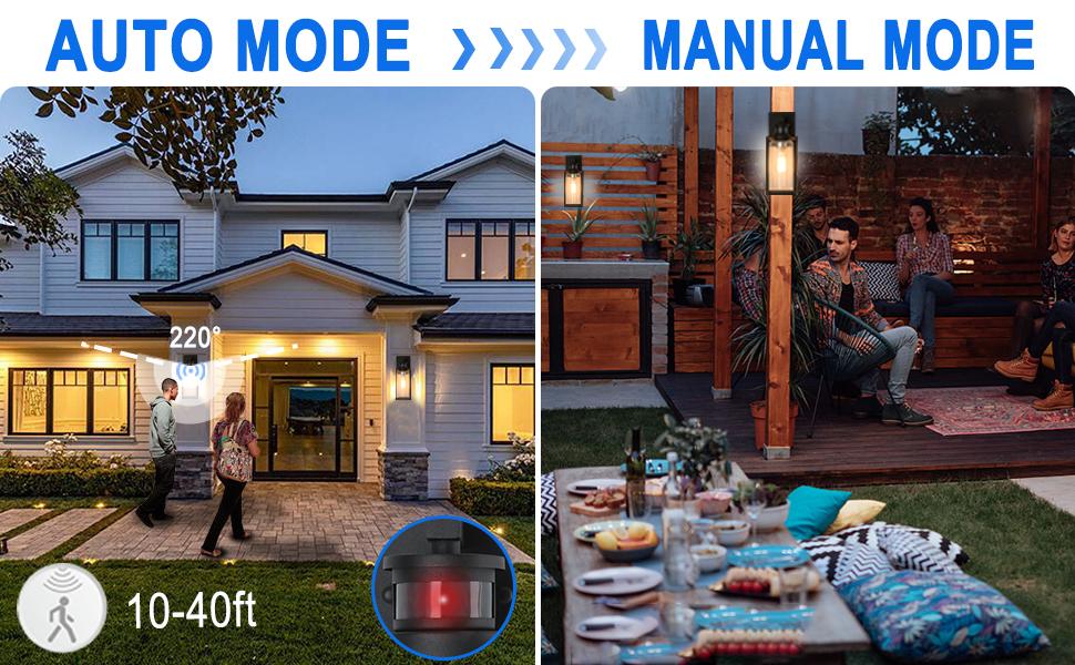 outdoor porch lights motion sensor