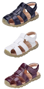 Kids Leather Closed Toe Sandals
