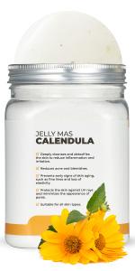 Calendula Avery Rose Peel-Off Jelly Mask Premium Modeling Rubber Mask Spa Set for face amp; Vajacial