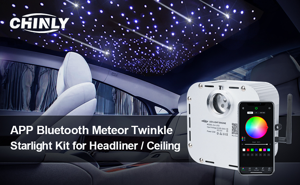Bluetooth Fiber Optic Light shooting star