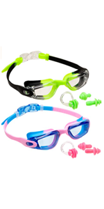 Swimming Goggles for Kids (2 Pack)