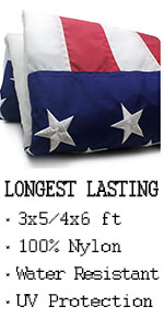 VSVO US American Flags - Nylon for Outdoor Use