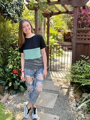 Ripped Denim Jeans for Women