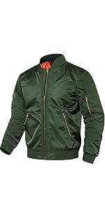 EKLENTSON Men's Casual Thicken Bomer Slim Fit Outwear winter coat Fight Jacket Windbreaker Men