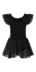 Ballerina Outfits for 3-8 Years Girls Ballet Dance Dress Glitter Leotards with Tutu Skirt