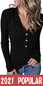 Ribbed Button Knit Sweater