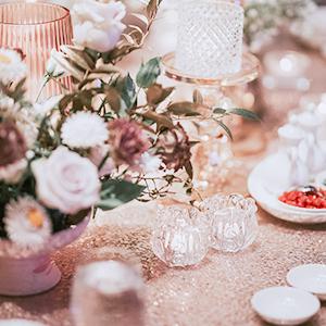 sequin tablecloths
