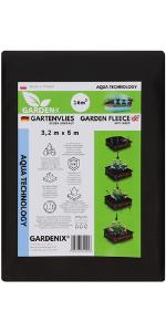 GARDENIX Tela para Control de maleza Aqua con Alta Permeabilidad al Agua