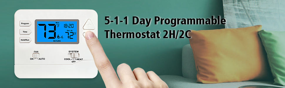 thermostat 2 heat / 2 cool