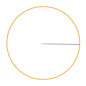 Show the sharp tip of a needle