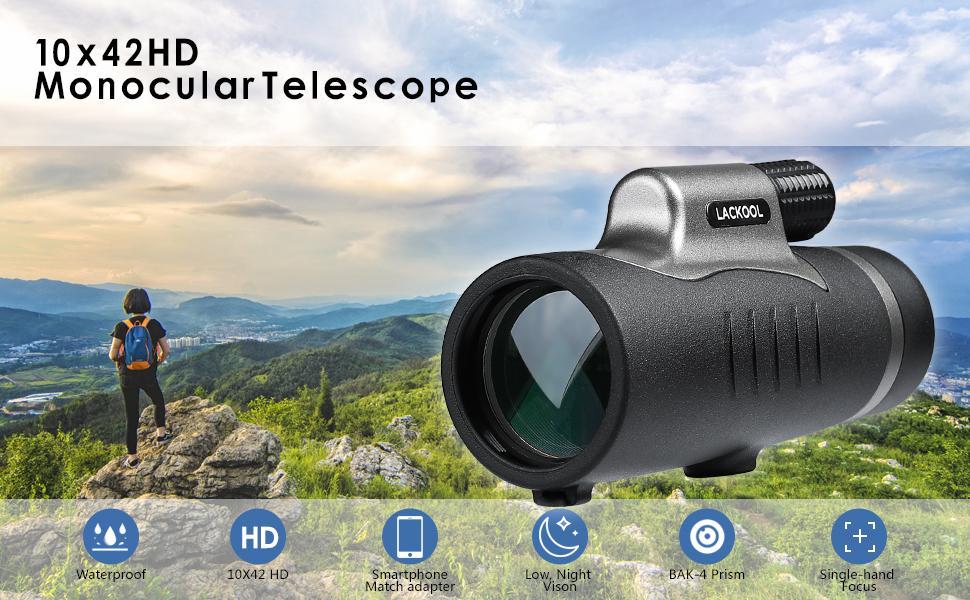 10 x 42 HD Monocular Telescope