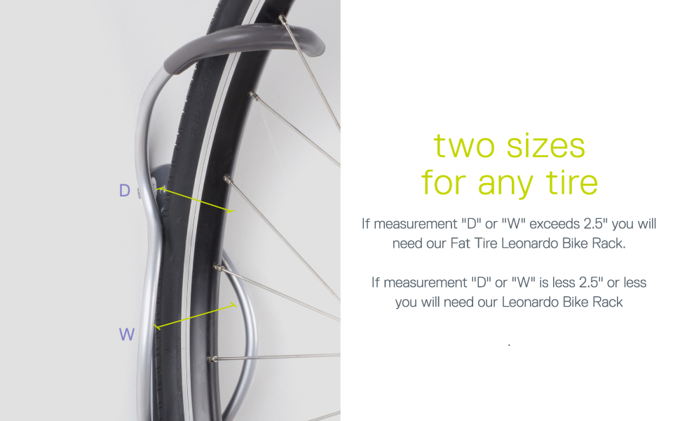 two sizes for any tire