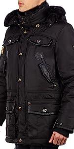 Winter jacket in faux fur hood
