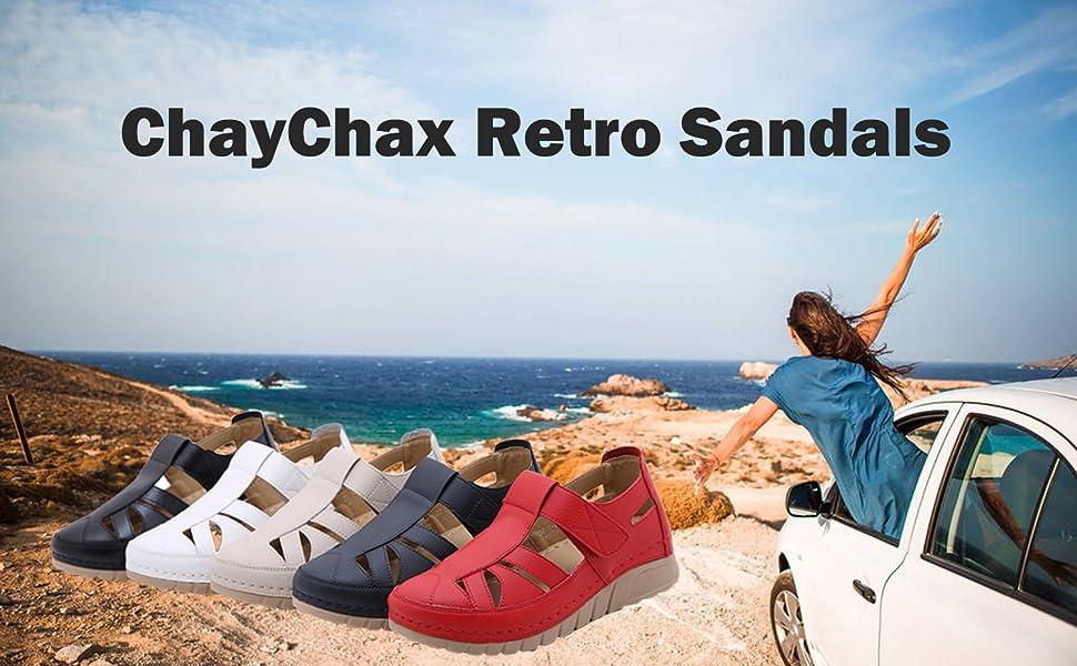 summer retro sandals