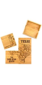 Texas Puzzle Coasters