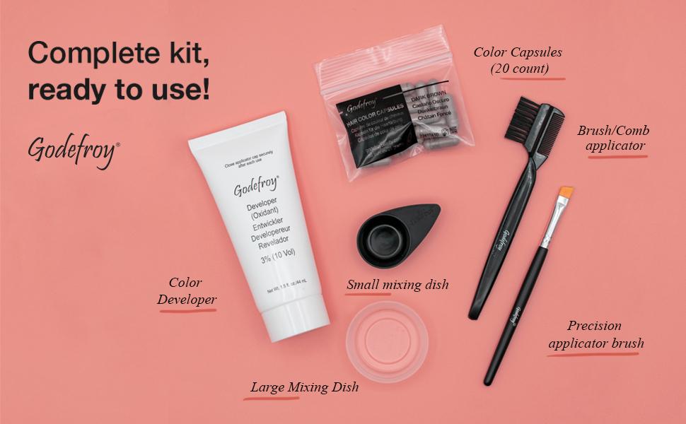hair color tint kit eyebrows dye makeup mascara wand pencil stencil stamp brow lash mustache women