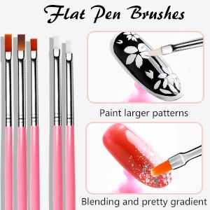 Flat Pen Brushes