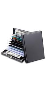 10 card slots credit card wallet