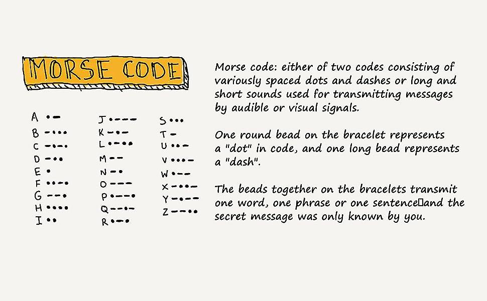 morse code bracelets for teen girls