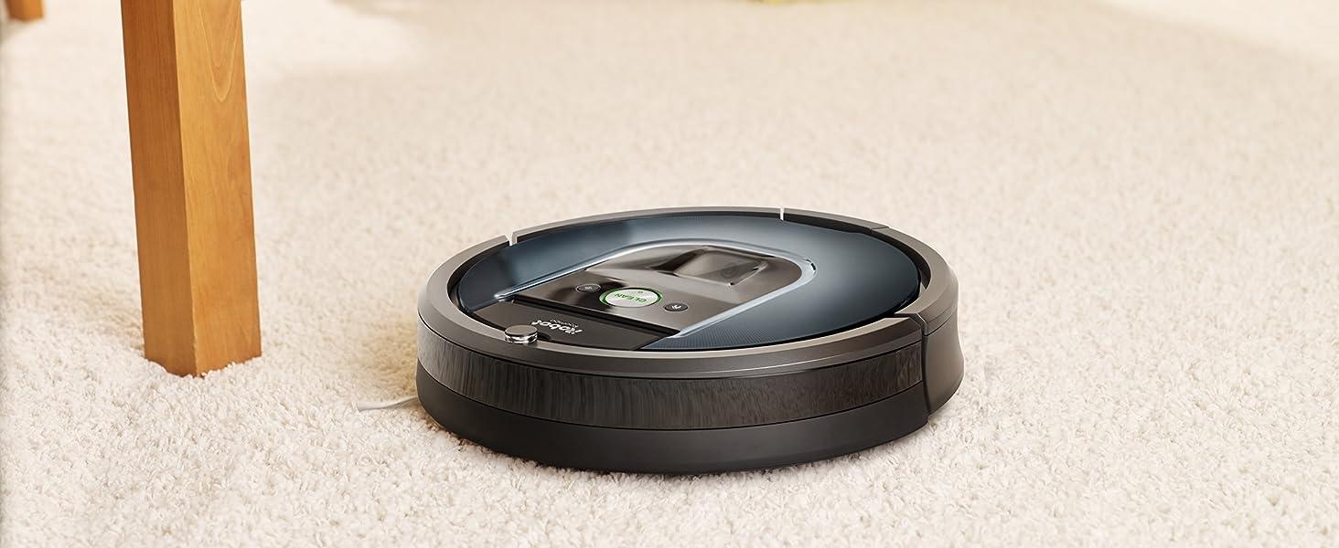 iRobot Roomba 981 maakt schoon in de slaapkamer