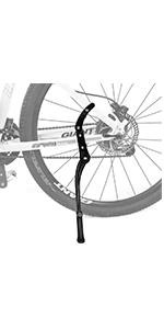 Bike adjustable kickstand