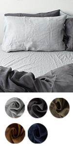 麻100% 枕カバー ピローケース 上質なフレンチリネン オールシーズン使える エコテックス認証  リーナ