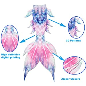 Features of the mermaid tail
