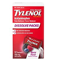 Tylenol Extra Strength Dissolve Packs with acetaminophen pain reliever